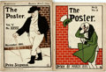 Books:Periodicals, [Periodicals]. Two Copies of The Poster. March, 1899 andNovember, 1900. Publisher's printed wrappers. Some rubbing,...(Total: 2 Items)