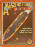 Books:Pulps, [Pulps]. Amazing Stories Quarterly, Vol. 1, No. 2. Spring1928. Original printed wrappers. Some closed tears to ...