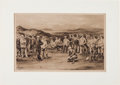 Golf Collectibles:Miscellaneous, Michael Brown Hand Signed Print of 1903 First International Golf Match From The Sam Snead Collection....