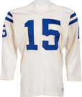Football Collectibles:Uniforms, Early 1970's Earl Morrall Game Worn Baltimore Colts Jersey, MEARS A9....