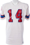 Football Collectibles:Uniforms, 1976-82 Steve Grogan Game Worn New England Patriots Jersey, MEARS A8....