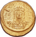 Ancients:Byzantine, Ancients: Justin II (AD 565-578). AV solidus (21mm, 4.45 gm,6h). ...