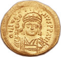 Ancients:Byzantine, Ancients: Justin II (AD 565-578). AV solidus (21mm, 4.49 gm,6h). ...