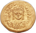 Ancients:Byzantine, Ancients: Justin II (AD 565-578). AV lightweight solidus (20mm,3.32 gm, 6h). ...