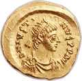 Ancients:Byzantine, Ancients: Justin II (AD 565-578). AV tremissis (16mm, 1.50 gm,6h)....