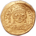 Ancients:Byzantine, Ancients: Justin II (AD 565-578). AV solidus (20mm, 4.48 gm, 7h). ...
