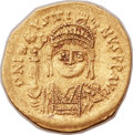Ancients:Byzantine, Ancients: Justin II (AD 565-578). AV lightweight solidus of 20siliquae (20mm, 3.73 gm, 6h). ...