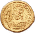 Ancients:Byzantine, Ancients: Justin II (AD 565-578). AV lightweight solidus (21mm,3.82 gm, 6h). ...