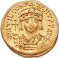 Ancients:Byzantine, Ancients: Tiberius II Constantine (AD 578-582). AV lightweightsolidus of 22 siliquae (21mm, 4.03 gm, 6h)....