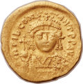 Ancients:Byzantine, Ancients: Tiberius II Constantine (AD 578-582). AV lightweightsolidus of 20 siliquae (21mm, 3.69 gm, 6h)....