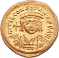 Ancients:Byzantine, Ancients: Tiberius II Constantine (AD 578-582). AV lightweightsolidus of 22 siliquae (21mm, 4.04 gm, 6h)....