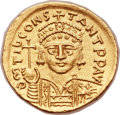Ancients:Byzantine, Ancients: Tiberius II Constantine (AD 578-582). AV solidus (21mm,4.43 gm, 6h)....