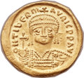 Ancients:Byzantine, Ancients: Maurice Tiberius (AD 582-602). AV solidus (22mm, 4.42 gm,5h)....
