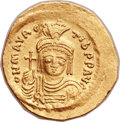 Ancients:Byzantine, Ancients: Maurice Tiberius (AD 582-602). AV solidus (22mm, 4.40 gm,6h)....