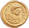 Ancients: Maurice Tiberius (AD 582-602). AV semissis (18mm, 2.20 gm, 6h).