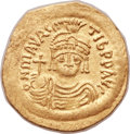 Ancients:Byzantine, Ancients: Maurice Tiberius (AD 582-602). AV solidus (23mm, 4.33 gm,6h)....