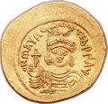 Ancients:Byzantine, Ancients: Maurice Tiberius (AD 582-602). AV solidus (22mm, 4.45 gm,6h)....
