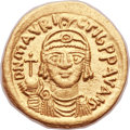Ancients:Byzantine, Ancients: Maurice Tiberius (AD 582-602). AV solidus (20mm, 4.47 gm,6h)....