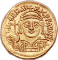 Ancients:Byzantine, Ancients: Maurice Tiberius (AD 582-602). AV solidus (20mm, 4.48 gm, 6h)....