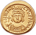 Ancients:Byzantine, Ancients: Maurice Tiberius (AD 582-602). AV solidus (20mm, 4.46 gm,6h)....