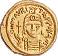 Ancients:Byzantine, Ancients: Maurice Tiberius (AD 582-602). AV solidus (22mm, 4.43 gm,6h)....