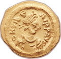 Ancients: Maurice Tiberius (AD 582-602). AV tremissis (14mm, 1.51 gm, 6h).
