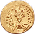 Ancients:Byzantine, Ancients: Phocas (AD 602-610). AV solidus (22mm, 4.50 gm, 6h). ...