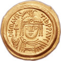 Ancients:Byzantine, Ancients: Maurice Tiberius (AD 582-602). AV solidus (22mm, 4.53 gm,6h)....