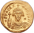 Ancients:Byzantine, Ancients: Phocas (AD 602-610). AV lightweight solidus of 23siliquae (21mm, 4.33 gm, 6h). ...