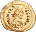 Ancients:Byzantine, Ancients: Phocas (AD 602-610). AV tremissis (16mm, 1.43 gm,6h). ...
