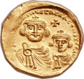 Ancients:Byzantine, Ancients: Heraclius (AD 610-641), with Heraclius Constantine (AD613-641). AV solidus (22mm, 4.43 gm, 6h). ...