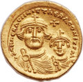 Ancients:Byzantine, Ancients: Heraclius (AD 610-641), with Heraclius Constantine (AD 613-641). AV solidus (21mm, 4.50 gm, 6h). ...