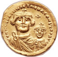 Ancients:Byzantine, Ancients: Heraclius (AD 610-641), with Heraclius Constantine (AD613-641). AV solidus (21mm, 4.38 gm, 6h). ...