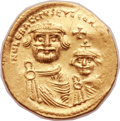 Ancients:Byzantine, Ancients: Heraclius (AD 610-641), with Heraclius Constantine (AD 613-641). AV solidus (21mm, 4.51 gm, 6h)....