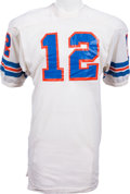 Football Collectibles:Uniforms, 1972-73 Charley Johnson Game Worn Denver Broncos Jersey, MEARS A10....