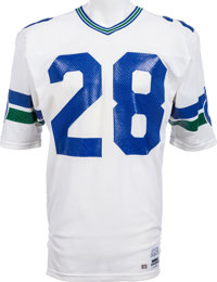 new arrival 8fed5 7b225 Mid 1980's Curt Warner Game Worn Seattle Seahawks Jersey ...