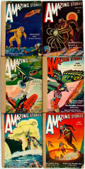 Books:Pulps, [Pulps]. Six Issues of Amazing Stories. 1931. Originalprinted wrappers, five rebacked. Some rubbing, creasing a...(Total: 6 Items)