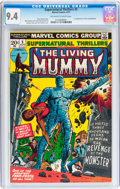 Bronze Age (1970-1979):Horror, Supernatural Thrillers #5 The Living Mummy (Marvel, 1973) CGC NM9.4 Off-white to white pages....