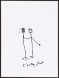 Mainstream Illustration, Charley Pride. Doodle for Hunger, 2010. Marker on paper. 9 x12 in.. Signed. ...