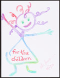Mainstream Illustration, Laura Schlessinger. Doodle for Hunger, 2002. Crayon onpaper. 9 x 12 in.. Signed. ...