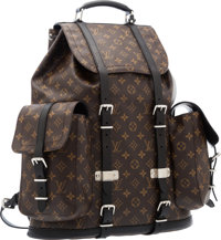 Louis Vuitton Macassar Monogram Canvas Christopher Backpack Very Good to Excellent Condition 19""
