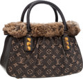 "Luxury Accessories:Bags, Louis Vuitton Chinchilla Fur & Denim Trapeze Bag. ExcellentCondition. 12"" Width x 7"" Height x 5"" Depth. ..."