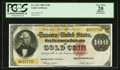Large Size:Gold Certificates, Fr. 1214 $100 1882 Gold Certificate PCGS Apparent Very Fine 20.....