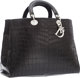 "Christian Dior Matte Black Crocodile Diorissimo Tote Bag Excellent Condition 15"" Width x 10"" Height x 7""..."