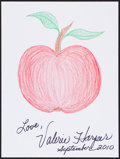 Movie/TV Memorabilia:Autographs and Signed Items, Valerie Harper. Doodle for Hunger. Crayon on Paper. 9 x 12Inches. Estimate: $100-$300. Condition: Fine. . ...
