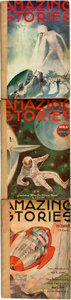 Books:Pulps, [Pulps]. Three Issues of Amazing Stories. 1933. Originalprinted wrappers, rebacked. Mild rubbing and edgewear. Very...(Total: 3 Items)