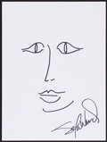 Movie/TV Memorabilia:Autographs and Signed Items, Sela Ward. Doodle for Hunger. Marker on Paper. 9 x 12 Inches. Estimate: $100-$300. Condition: Fine. . ...