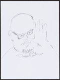 Movie/TV Memorabilia:Autographs and Signed Items, Daniel Pinkwater. Doodle for Hunger. Pencil on Paper. 9 x 12Inches. Estimate: $100-$300. Condition: Fine. . ...
