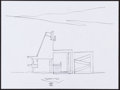 Movie/TV Memorabilia:Autographs and Signed Items, Richard Meier. Doodle for Hunger. Pencil on Paper. 9 x 12Inches. Estimate: $100-$300. Condition: Fine. . ...