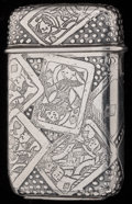 Silver Smalls:Match Safes, A TIFFANY & CO. SILVER MATCH SAFE, New York, New York, circa1892-1902. Marks: TIFFANY & CO., MAKERS, STERLING, 9887, T,3...